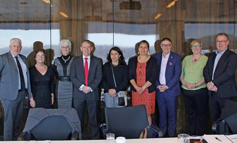 The Institute of Skills & Technology Establishment Board with the Hon Chris Hipkins, Minister of Education