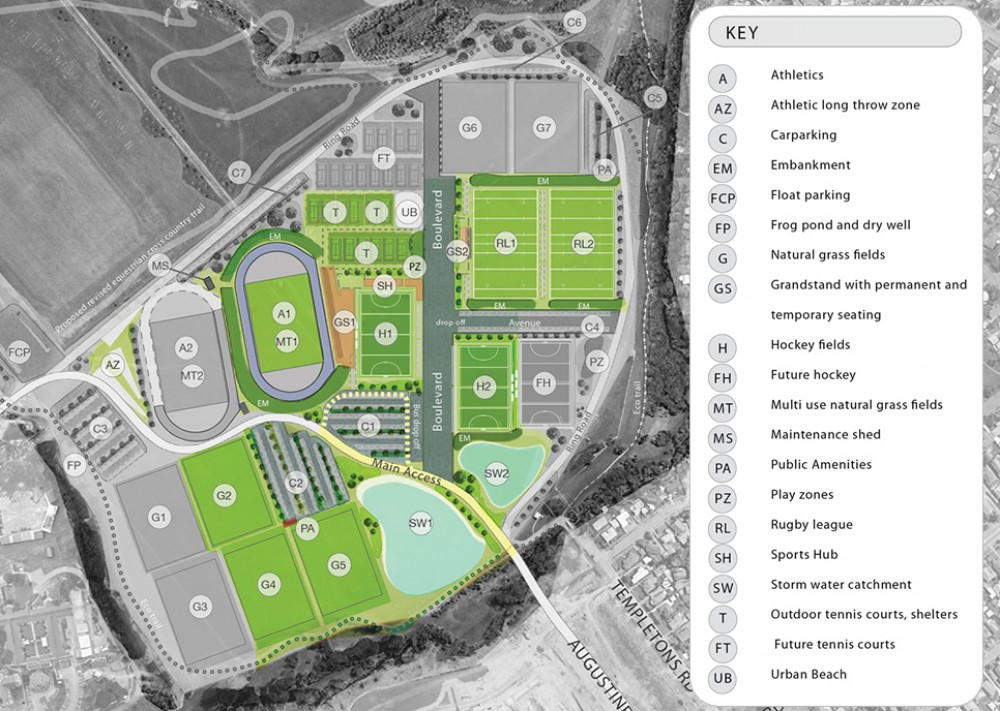 The Ngā Puna Wai Sports Hub Master Plan.
