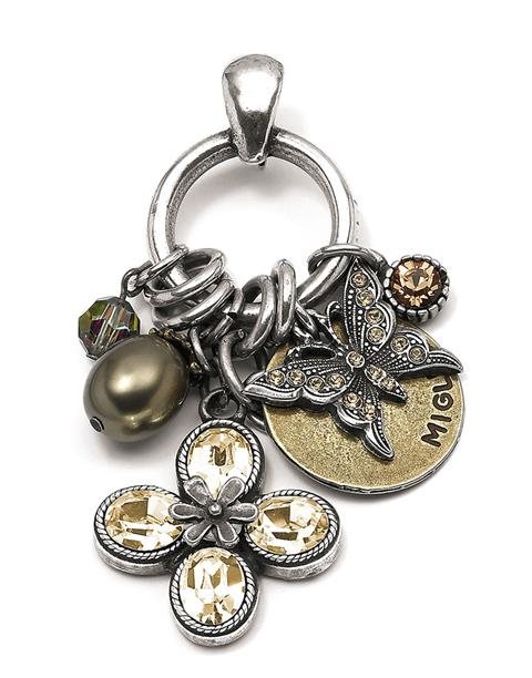 Golden Shadow Garden Party Charm Pendant (EN514)