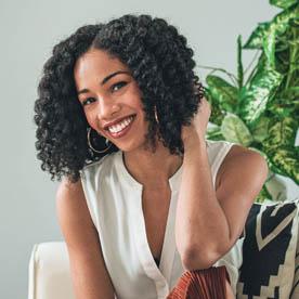Curly hair blogger Kaya Marriott