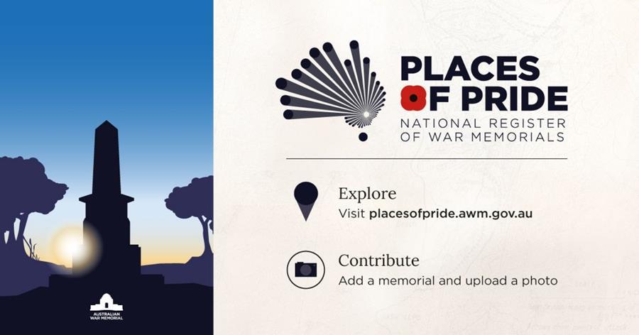 Explore placesofpride.awm.gov.au and add a memorial or upload a photo