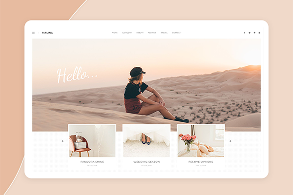 Malina - Personal WordPress Blog Theme